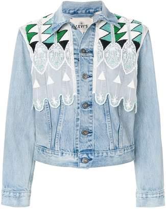 Levi's Made & Crafted short embroidered denim jacket