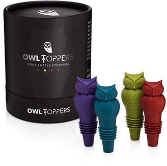 Owltoppers Bottle Stoppers(4 Pack