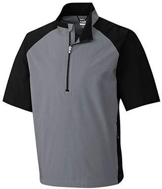 Cutter & Buck Men's Weathertec Short Sleeve Half Zip Windshirt