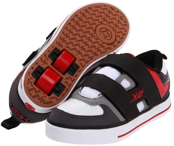 Heelys Dart (Little Kid) (Gray/White/Black/Red) - Footwear