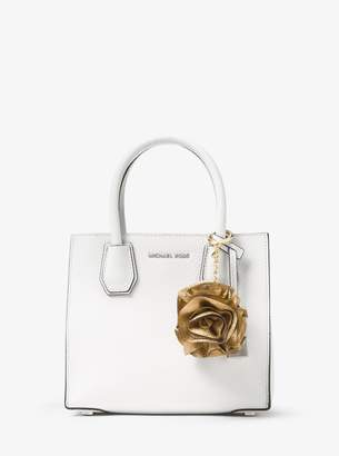 MICHAEL Michael Kors Origami Rose Metallic Leather Key Chain