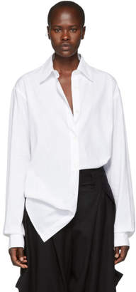 Ann Demeulemeester White Oversized Cotton Shirt