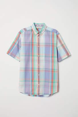 H&M Regular Fit Poplin Shirt - Purple
