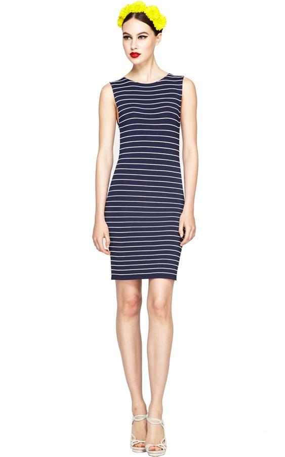 Alice + Olivia Dee Stripe Fitted Dress
