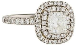 Platinum 0.91ct Diamond Engagement Ring