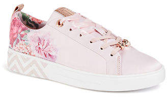 Ted Baker Kelleit Floral Leather Sneakers