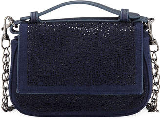 Neiman Marcus Crystal-Encrusted Mini Crossbody Bag
