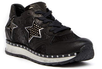 Khrio Glittery Star Leather Sneaker