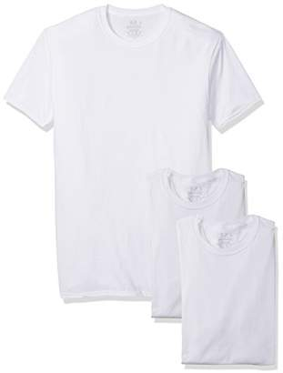 Fruit of the Loom Men's Tall Size 3-Pack Premium Breathable Cotton Micromesh Man Crew