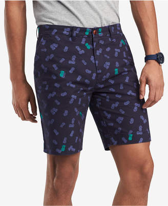 "Tommy Hilfiger Men's Pineapple Embroidered Scatter-Print 9"" Shorts, Created for Macy's"