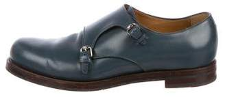 Gucci Leather Double Monk Strap Shoes