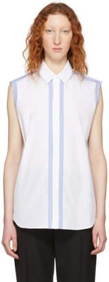 Maison Margiela White Cut-Out Detail Sleeveless Shirt