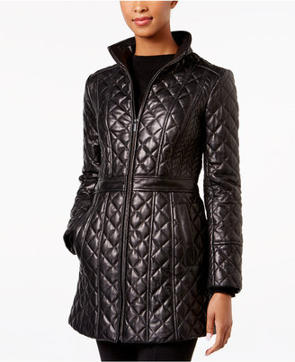 Jones New York Quilted Leather Jacket $480 thestylecure.com