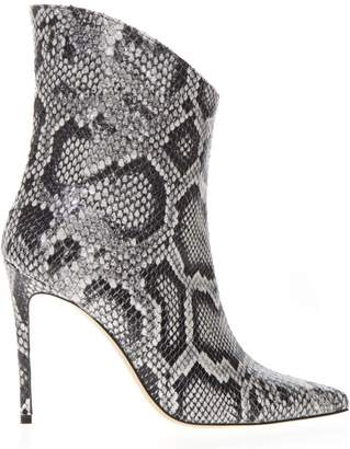 f69abb8e635 Aldo Castagna Ankle Boot In Pythoned Grey Leather