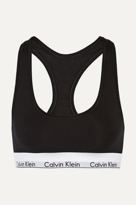 Outlet Cost Clearance Limited Edition Calvin Klein Cutout Stretch-cotton Soft-cup Bra Cheap Sale Clearance Get New 7hNw05