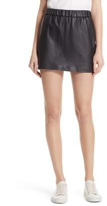 Frame Pull-On Leather Miniskirt