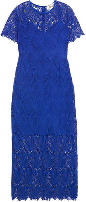 Diane von Furstenberg Guipure Lace Midi Dress - Royal blue