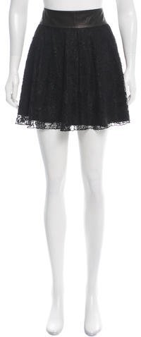 Alice + Olivia Alice + Olivia Lace Mini Skirt