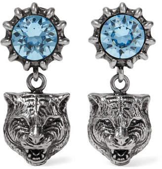 Gucci Silver-tone Aquamarine Earrings