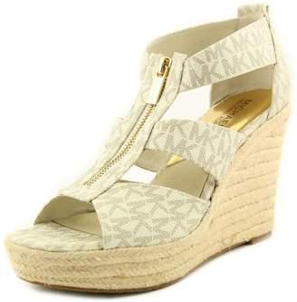 MICHAEL Michael Kors Damita Wedge Women US 8.5 Ivory Wedge Heel