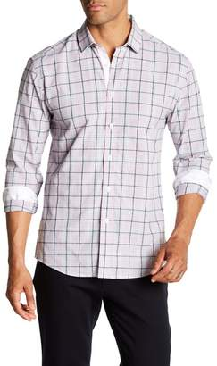 Vince Camuto Modern Fit Long Sleeve Plaid Print Shirt