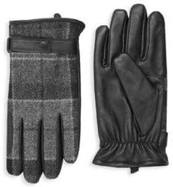 Barbour Men's Newbrough Tartan Gloves - Black Grey - Size Medium