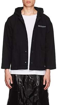 """RtA Men's """"Darkside"""" Embroidered Denim Coach's Jacket"""