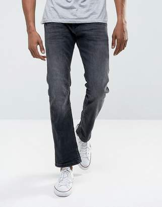Esprit Jeans In Straight Fit Washed Black Organic Denim