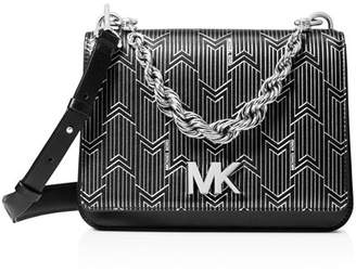 MICHAEL Michael Kors Matt Chain Leather Shoulder Bag