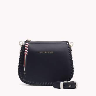 Tommy Hilfiger Whipstitch Leather Crossbody Bag