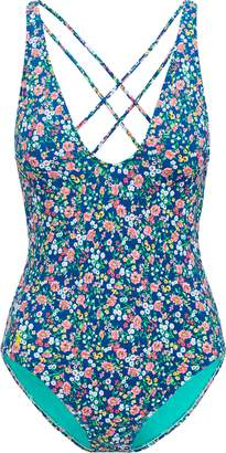 Ralph Lauren Floral V-Neck One-Piece Suit