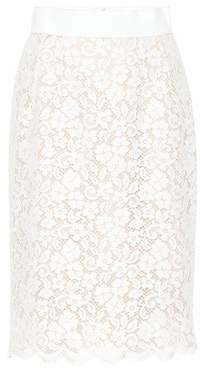Dolce & Gabbana Cotton-blend lace skirt