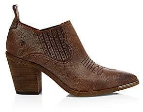 Frye Women's Faye Stitched Point Toe Suede Ankle Boots