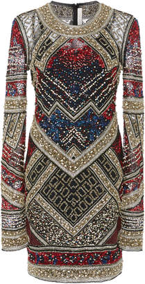 Naeem Khan Beaded Mini Dress
