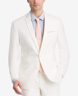 Bar III Men's Slim-Fit Stretch White Solid Suit Jacket, Created for Macy's