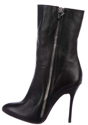 Jean-Michel Cazabat Leather Pointed-Toe Mid-Calf Boots