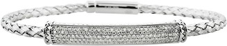Affinity Diamond Jewelry Woven Diamond Bracelet Sterling 5/8 cttw by Affinity