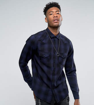 Asos Design DESIGN Tall regular fit western check shirt