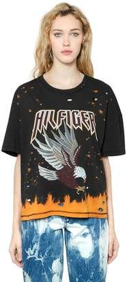 Tommy Hilfiger Tommy Eagle Bleached & Ripped T-Shirt