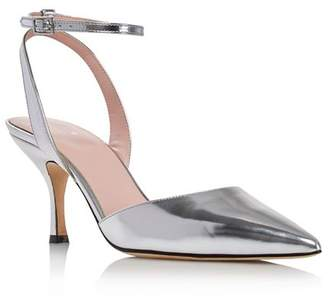 Kate Spade Women's Simone Pointed Toe Ankle-Strap Leather Pumps