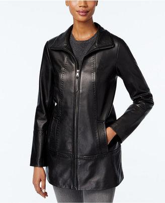 Jones New York Leather Jacket $480 thestylecure.com