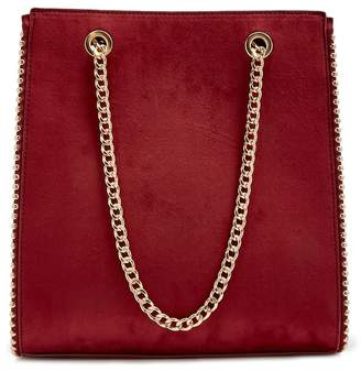 Forever 21 Chain-Strap Faux Suede Tote