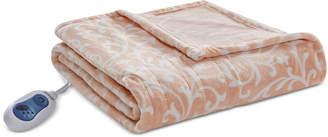 "Simmons Adelynn Oversized 60"" x 70"" Heated Plush Throw Bedding"