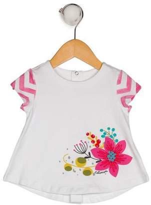 Catimini Girls' Short Sleeve Printed Top w/ Tags