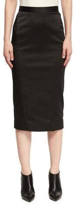 Zac Posen Satin Pencil Skirt