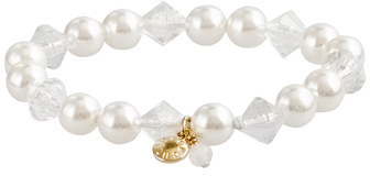 Alldressedup Girls' pearl and crystal bracelet
