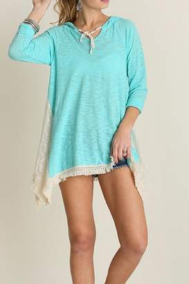 Umgee USA Hooded Lace Top