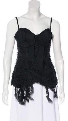 Elizabeth and James Silk Embellished Bustier