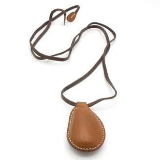 Hermes Brown Leather Necklace