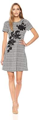 Betsey Johnson Women's Short Sleeve Checked Dress